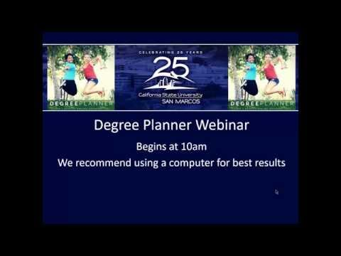 CSUSM Degree Planner Webinar November 6, 2015