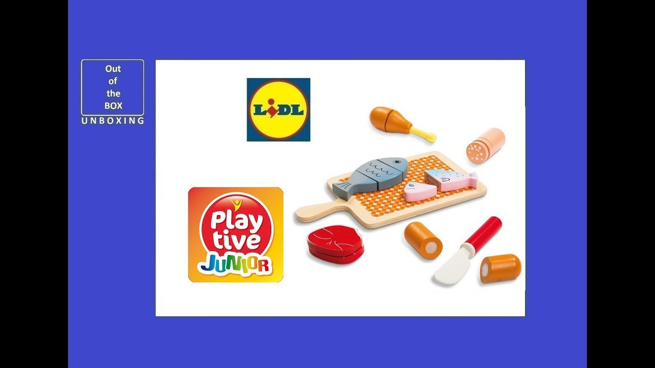 Playtive Küche Test Playtive Junior Wood Food Set Fish And Meat Unboxing Lidl 16 Pcs