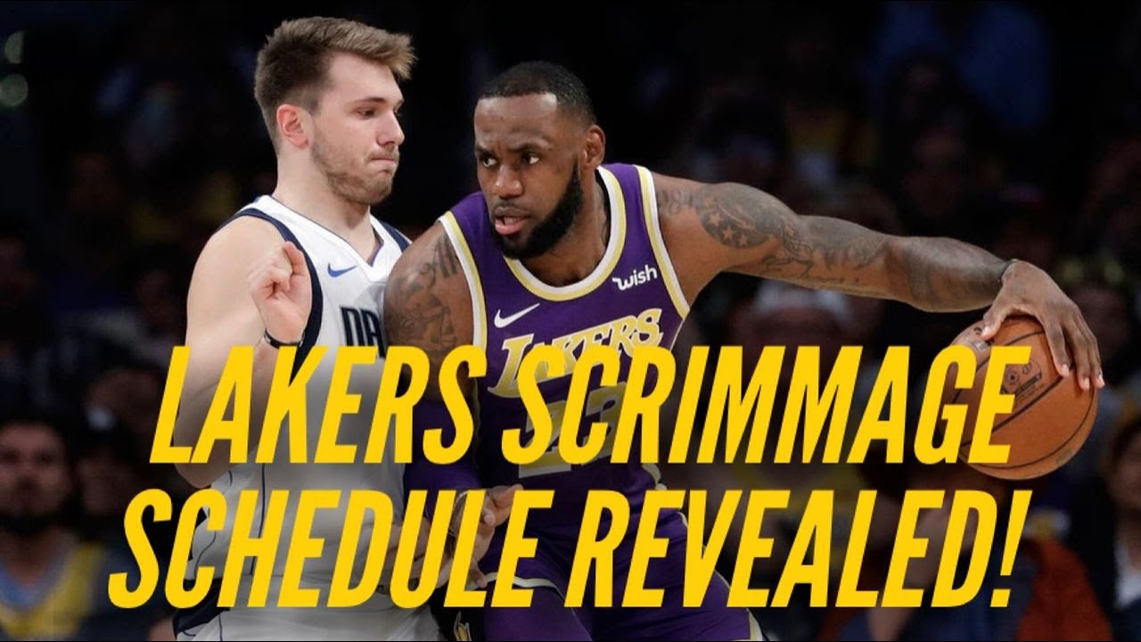 Lakers Scrimmage Schedule Revealed!