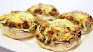 Beef And Salami Stuffed Mushrooms - Video Recipe