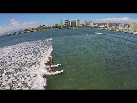 Surfing Hawaii: Ala Moana to Waikiki to Diamond Head by Drone