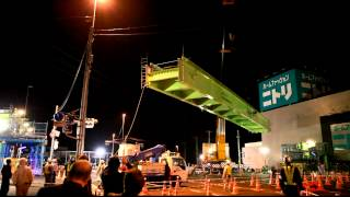国道17号坂田交差点架設工事 crane Footbridge Construction Works Tadano Ar-5500m