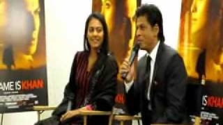 um  sharukh khan and kajol press conference for my name is khan