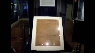 Anastatic Copy of Declaration of Independence on display at Fraunces Tavern Museum
