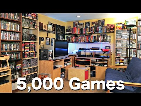 Metal Jesus GAME ROOM TOUR - 5000 Games!