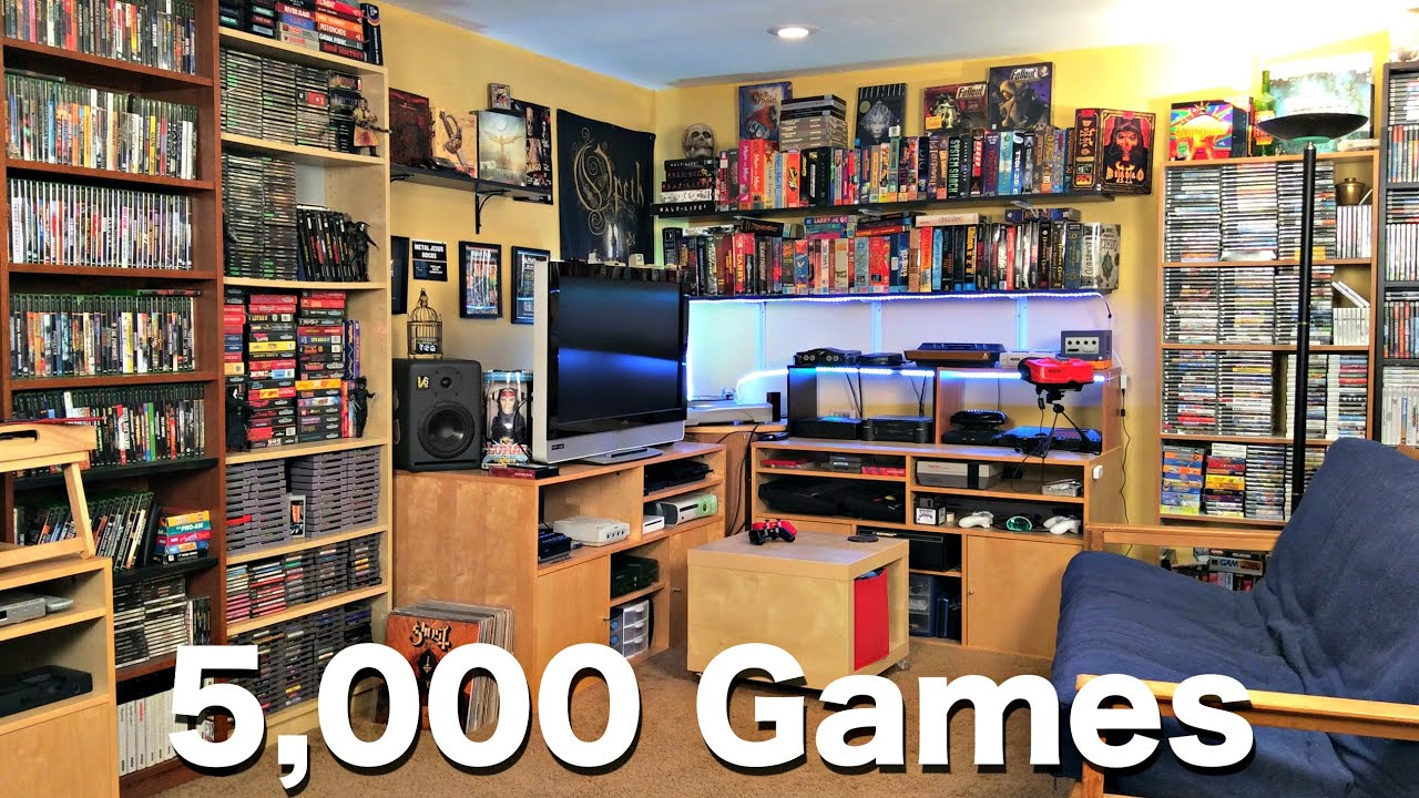 cool ideas for attic rooms - Metal Jesus GAME ROOM TOUR 5000 Games