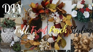 FALL FRONT DECOR ENTRY | 2017 Fall Home Tour