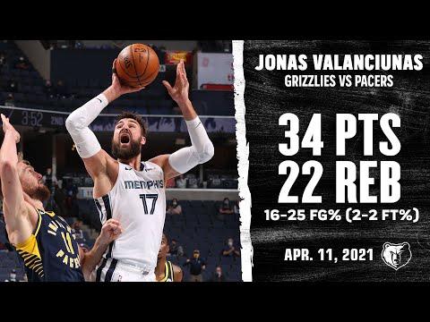 Jonas Valanciunas ERUPTS for COLOSSAL Double-Double vs Pacers Highlights   NBA Season 2020-21