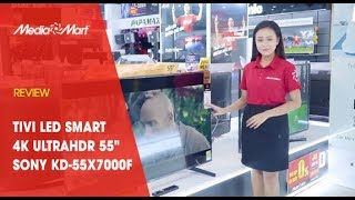 "Tivi LED SMART 4K UltraHDR 55"" SONY KD-55X7000"