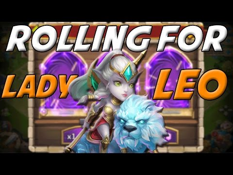 Castle Clash Rolling For Lady Leo ( Full Reaction! )