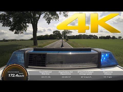 """Einsatzfahrt der Polizei zu """"explodiertem Haus"""" / High-Speed Police Response (Germany) - POV 4K"""