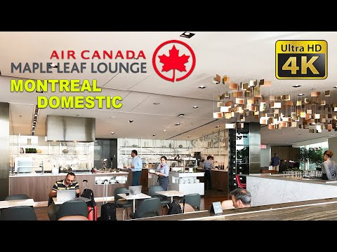 Air Canada Maple Leaf Lounge At Montreal YUL Domestic Departure