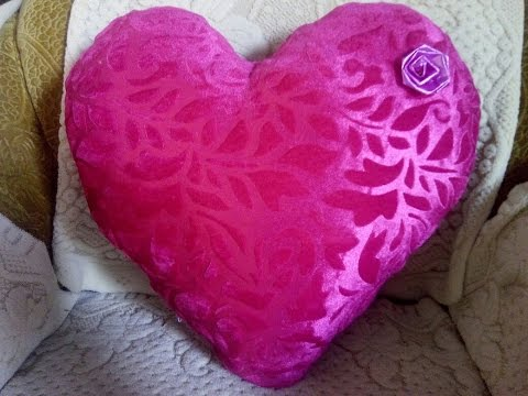 How To Make Heart Cushion At Home
