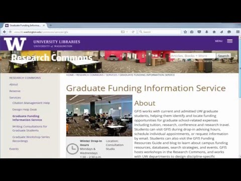 Getting Help with Graduate Funding