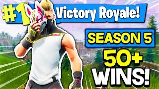 FORTNITE - SEASON 5 NEW GUN! | CROSSPLAY SQUADS! | ANDROID, IOS, PS4! *50+ Wins