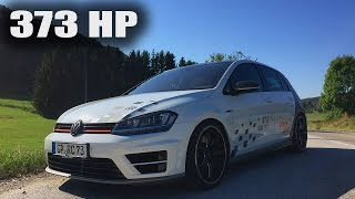 VW Golf R Review Test Drive POV 373 HP RaceChip