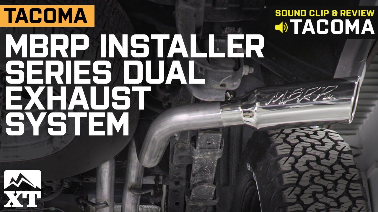 tacoma mbrp installer series dual exhaust system side exit 2016 2020 3 5l sound clip review