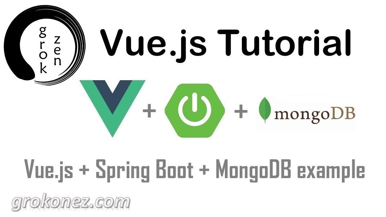 Spring Boot + Vue js example | Spring Data MongoDB + RestApi