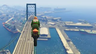 Extreme Bridge Bike Stunts Race (GTA 5 Funny Moments)