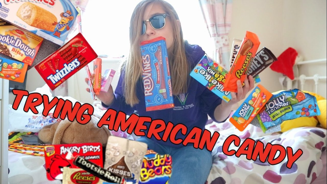 BRITISH TRYING AMERICAN CANDY!!!!