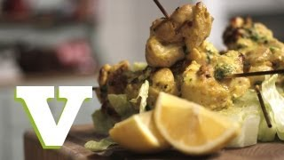 Coconut Chicken Skewers: Food For All S03e2/8