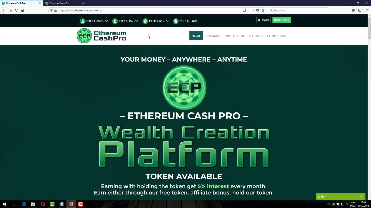 ethereum cash pro ico