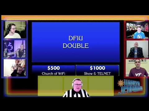 DEF CON 2020 NYE - Hacker Jeopardy Tiebreaker - Church of Wifi vs Show&TELNET
