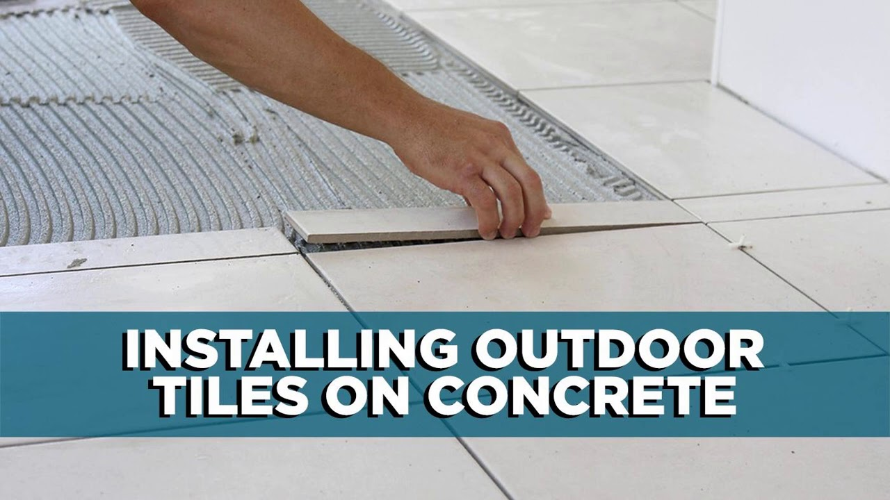 Installing Tile on Top of a Concrete Porch   Tips