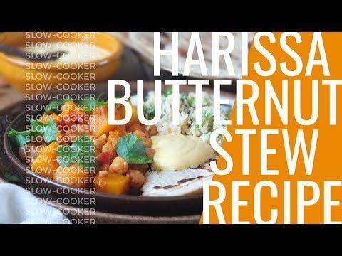 Slow Cooker Harissa Butternut Stew