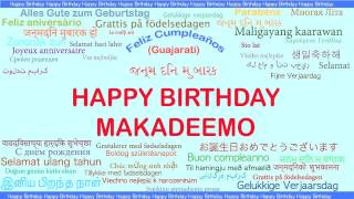 Makadeemo   Languages Idiomas - Happy Birthday