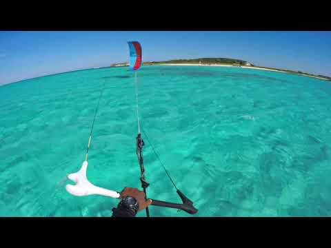 Amazing Kite-Foiling Session at San Salvador, The Bahamas.