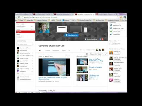 Edit Youtube Profile add websites and social links