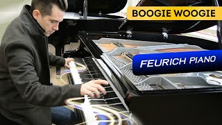 Ben Toury plays fast Boogie Woogie on Feurich 179 Piano Model Dynamic II (1st part)