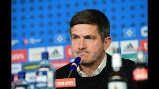 HSV-Sportvorstand Ralf Becker erklärt das Aus von Trainer Hannes Wolf