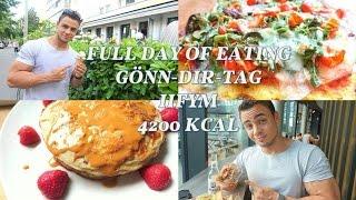 VLOG #52: FULL DAY OF EATING, IIFYM, 4200 KCAL - GÖNN DIR