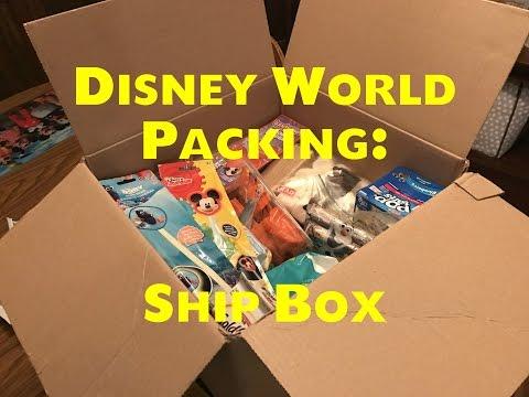 Disney World Packing: Ship Box