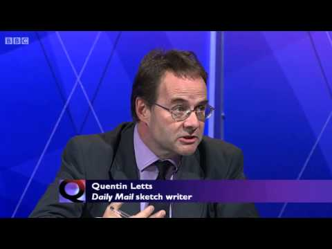 Question Time - Dimbleby Tells Quentin Letts 'Don't Accuse Me of Agendas - 03/10/2013