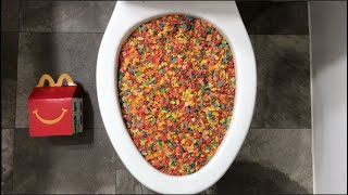 Will it Flush? - Coca Cola, Cereal, Mirinda Balloons and $500
