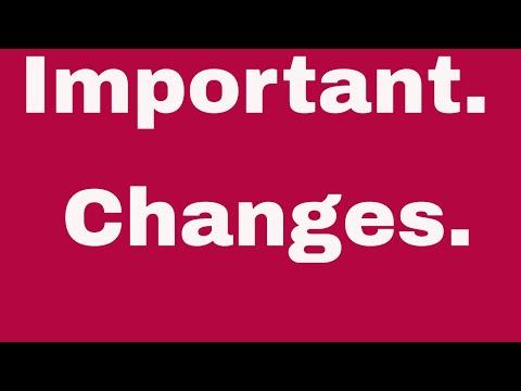 ChangesMarch2019