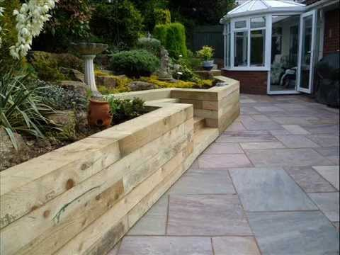 Patio Wall Design retaining wall and raised patio design and install Garden Walls Garden Walls Design