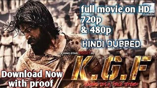 How to download Kgf chapter 1 full movie in HD with proof