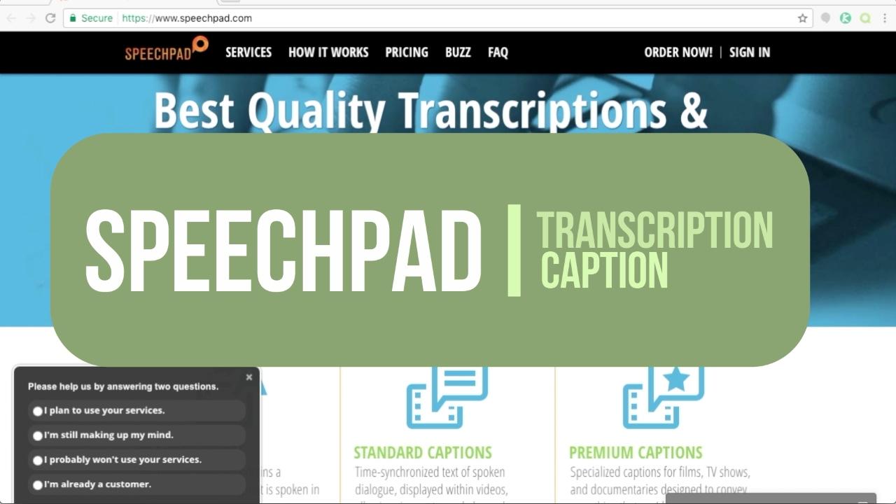 SpeechPad - Transcribing & Captioning + speechPad com VS rev com