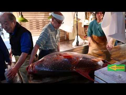 Japanese Street Food GIANT SUNFISH Mola Mola Tokyo