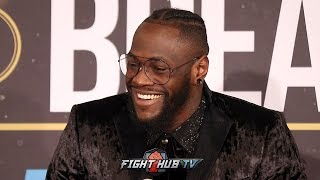 DEONTAY WILDER ON WHY HE HUGGED BREAZEALE AFTER KNOCKOUT