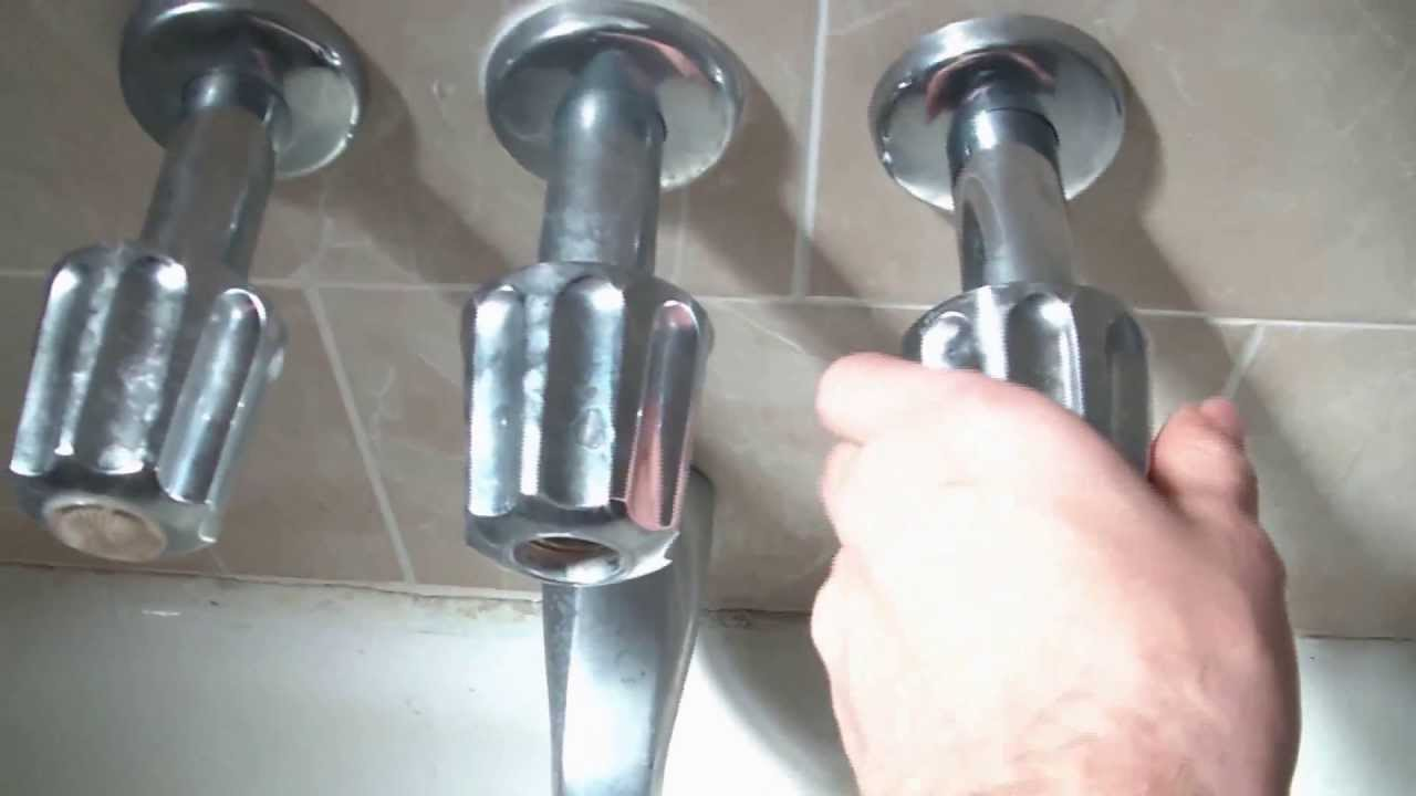 Bathroom Faucet Knob Repair how to fix a leaking bathtub faucet quick and easy - youtube