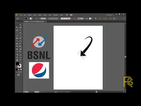 illustrator tutorial logo design in hindi bsnl  and pepsi logo