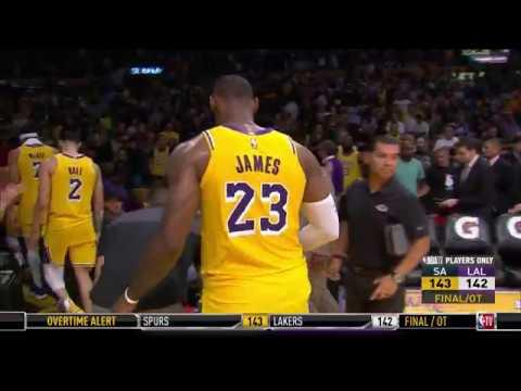 LeBron James Misses Game-Winner   Spurs vs Lakers   October 22, 2018   2018-19 NBA Season