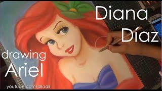 Speed Drawing: Ariel (The Little Mermaid) | Diana Díaz