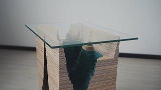 Кофейный стол озеро  Стол из фанеры