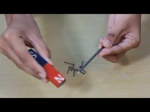 cara sederhana membuat magnet menggunakan tembaga.